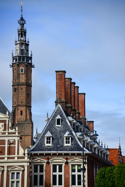 Haarlem, Netherlands built around 1210, this is City Hall on the Grote Markt. It was built in the 14th century.