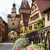 Rothenburg, Baveria, Germany Markusturm Street