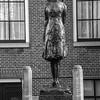 Anne Frank statue in memorial, Amsterdam, Netherlands