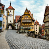 Rothenburg, Baveria, Germany  midieval town. This is Plonlein fork on road to city center.