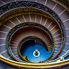 The Spiral staircase is located in the Vatican Museums. It was designed by Giuseppe Momo in 1932 and is a double helix design made up of two intertwined spirals, one leads downward and one upward.  The view is breathtaking, to find it without people - priceless.