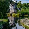 Windmill at work in Arnhem, Netherlands Open Air Museum