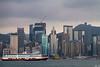 Ferry Passing Hong Kong Island |