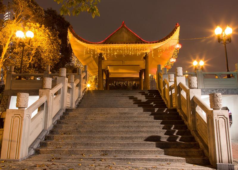 At the Lek Yuen Bridge