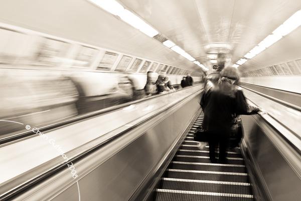 Speeding down back to the metro.