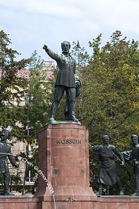 Kossuth square and statue. Budapest, Hungary, 2008.