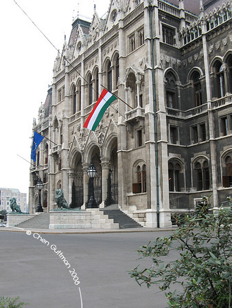 House of Parliament - front. Budapest, Hungary, 2008.