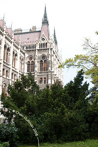 A look outside the house of parliament. Budapest, Hungary, 2008.