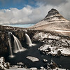 Mt Grundafjordur, Snaefellsnes peninsula, Iceland  day 4 (some snow overnight) with Kirkjufellsfoss waterfall