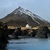 Mt Stapafell volcano from Arnarstapi Village, Snaefellsnes Peninsula, Iceland