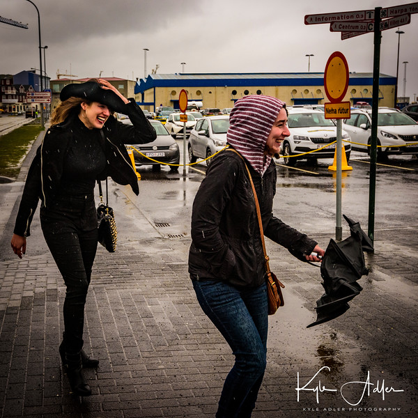 Our visit coincided with the coldest and rainiest month of May in recorded history.  Our first full day in Reykjavik was extremely cold, wet, and windy.  Umbrella use was futile.