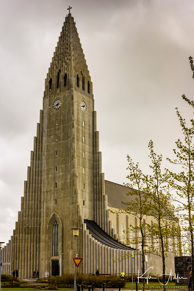The Hallgrimskirkja Church can be seen from almost anywhere in Reykjavik.  Not much to look at itself, the church's tower offers spectacular views over the city and the harbor.