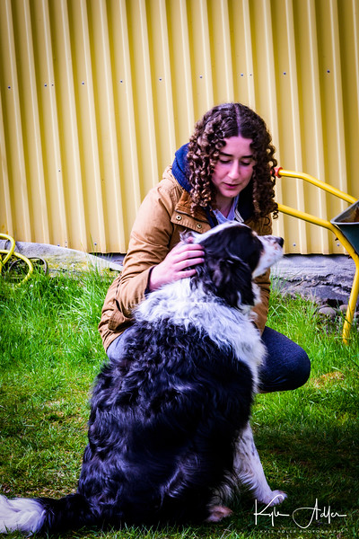 Celeste makes a new friend during a visit to the home of a botanist and expert in natural wool dying.  I forgot the botanist's name, but her dog's name is Tryggur (Icelandic for loyal).
