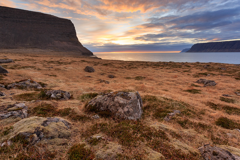 West Fjords at sunset