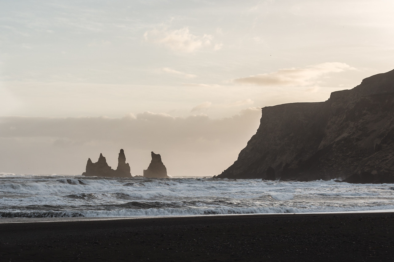 It's been two years since my trip to Iceland (March 2015). I remember reading about these sea stacks in the small town of Vik just off the black sand beaches of south coast Iceland among other places to see. When I finally arrived and saw it with my own eyes, I felt like a dream of mine had become reality in that moment.