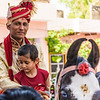 During our visit to the village, a groom and his niece rode through the streets on horseback as they headed to meet the bride's family.