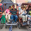 The start of our thrilling bicycle rickshaw ride through the crowded and chaotic streets of Old Delhi.
