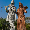 A roadside shrine to Krishna and Rama.