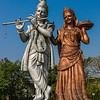 A roadside shrine to Krishna and Rama.