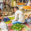 Early in the morning we visited a farmer's market in Agra.