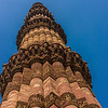 The beautiful minaret at Qutab Minar.