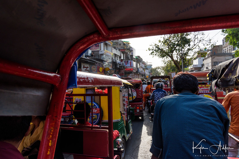 Rickshaw ride through the insane chaos that characterizes Old Delhi.