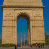 The India Gate, an Arc de Triomphe style gateway built in the 1920s.