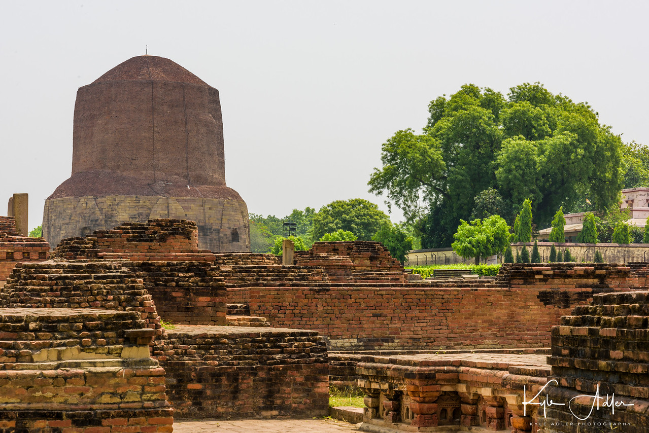 In Sarnath just outside of Varanasi, the Buddha preached his first sermon to his followers.