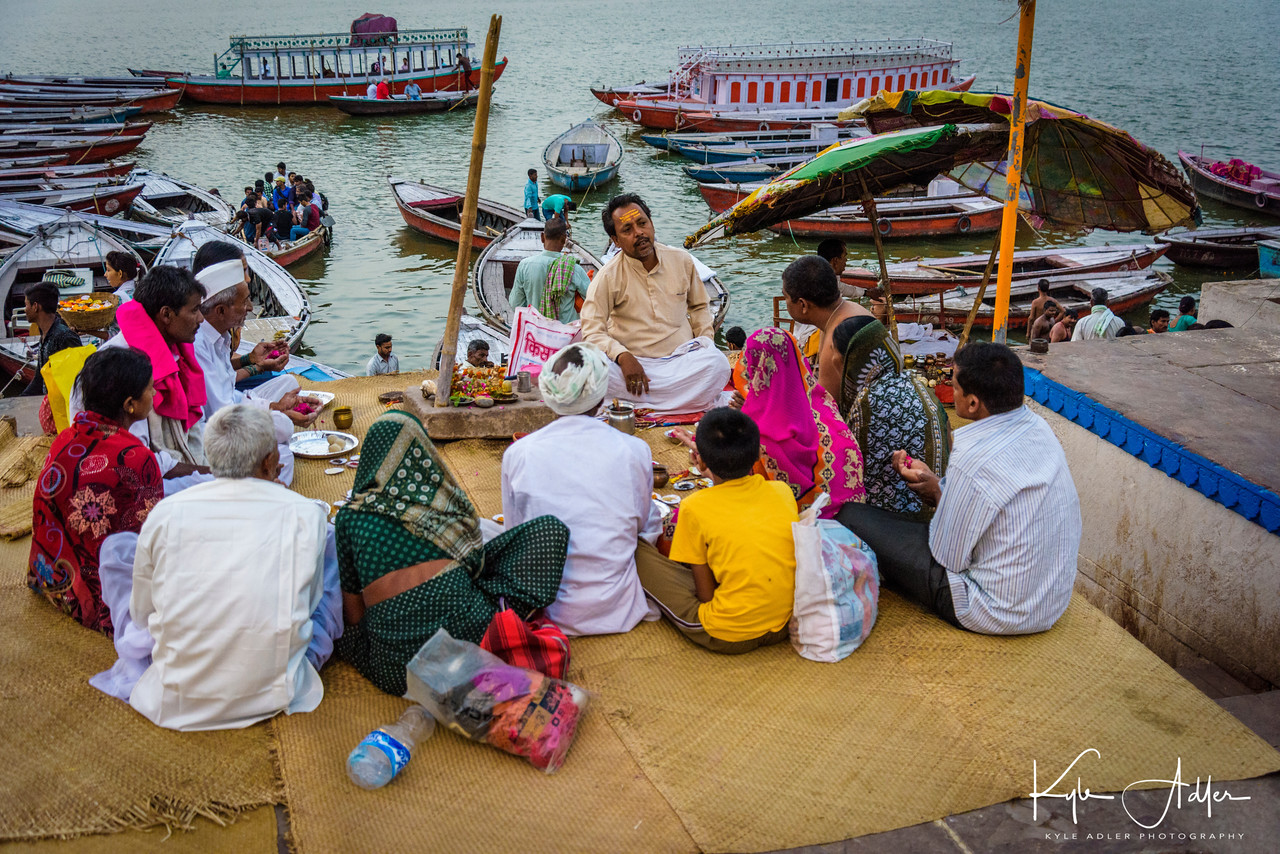 The banks of the Ganges River in Varanasi are the most sacred place for Hindu pilgrims.