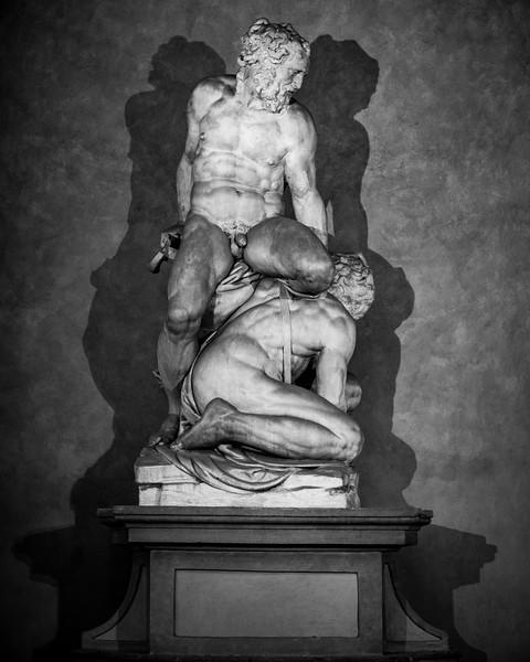 Samson and the Philistine of Pierno da Vinci, Florence, Italy