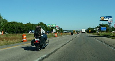 returning to Milwaukee.  The road was full of bikes