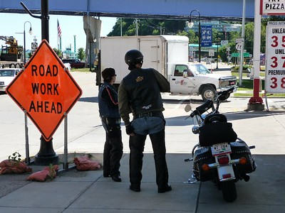 bikers in Marquette, Ia