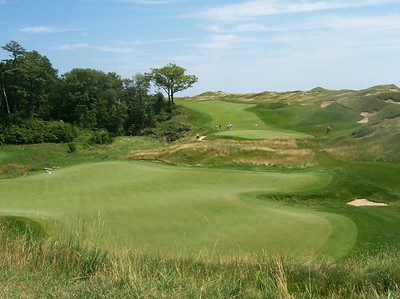 9th hole at Whistling Straits