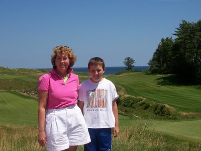 Mel and Peter at the 18th hole at Whistling Straits