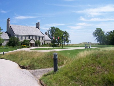 The club house at Whistling Straits just north of Sheboygan