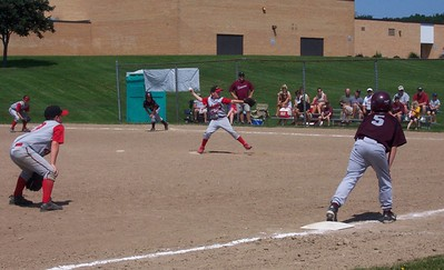 Peter pitching.. we had an 11am game against a Sheboygan team that day