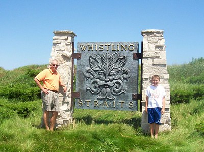 Me and Peter at Whistling Straits - the 2004 PGA was held here