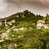 A Moorish castle dominates the hillside above Sintra.