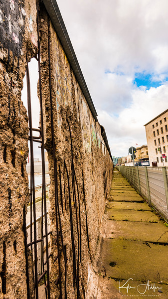 Another segment of the Berlin Wall left intact as an historical reminder.