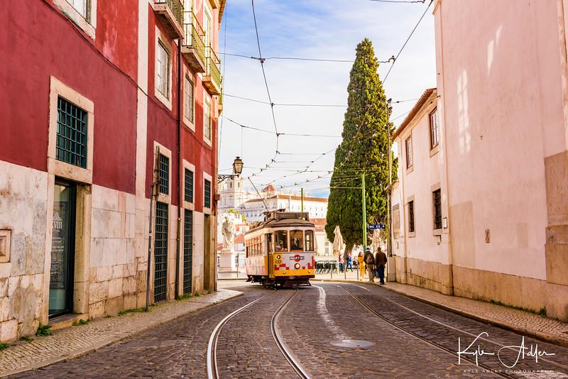 Lisbon street scene.