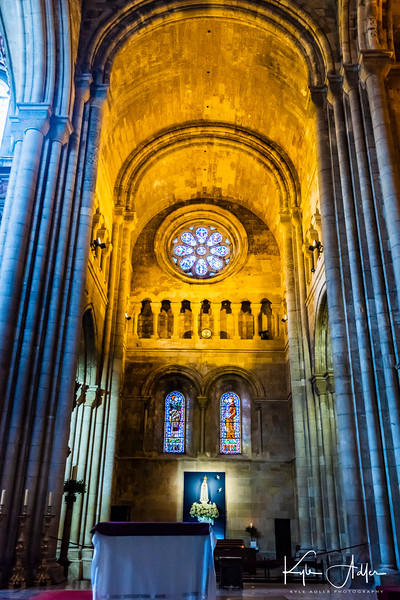 Interior of Lisbon Cathedral.