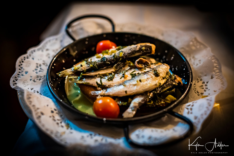 Dinner at the fado club began with sauteed sardines, a Lisbon specialty.
