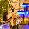A group of young performers holds the tech rehearsal for their upcoming circus arts dance show.   I am grateful to the Madeira Promotion Bureau for their assistance providing access to the Carnival events.