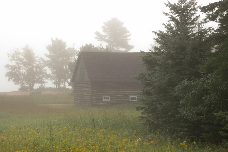 Morning fog after a storm.