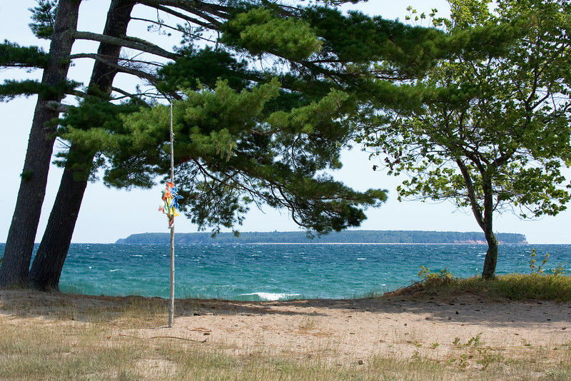 Michigan Island from Madeline's North coast.