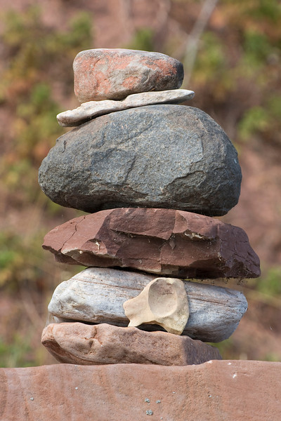 Stone cairn.