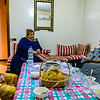 Enjoying a home-hosted dinner with a local family in Fez.
