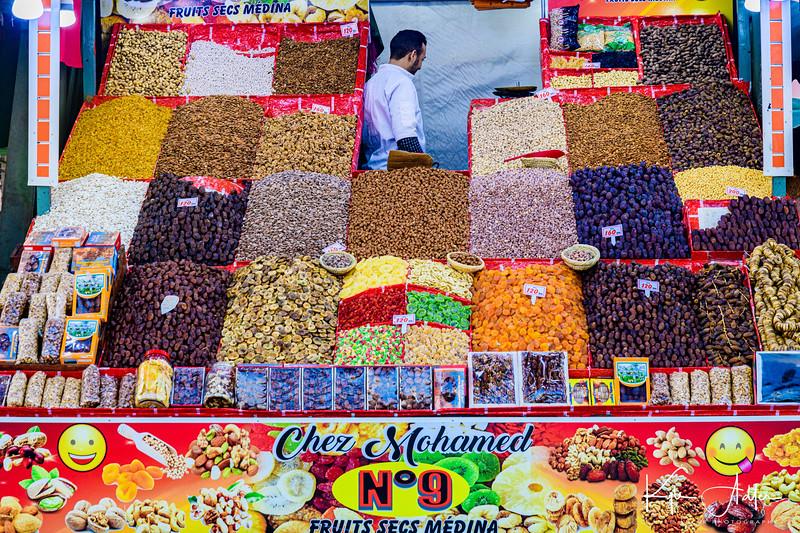 Another fruit vendor on Djamae El Fna Square in Marrakesh.