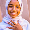 Portrait of one of Ahmed's daughters, 13-year-old Nouhayla.