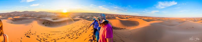 Enjoying the Sahara sunset.